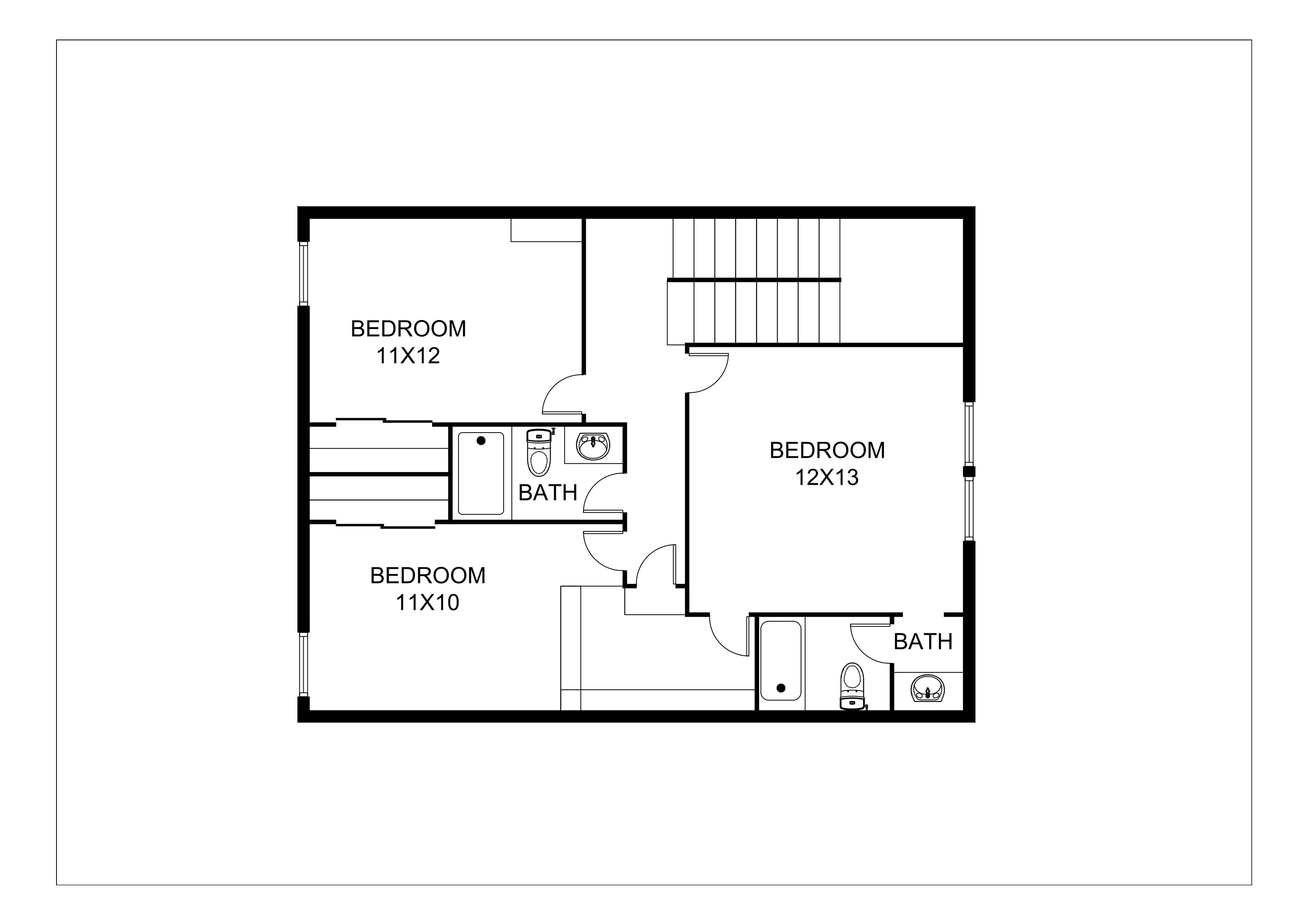 Real estate 2d floor plans design rendering samples for Floor plane