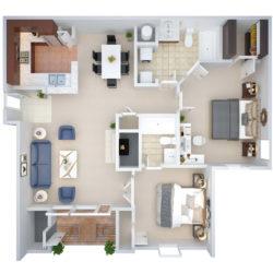 3D Floor Plan Design Sample