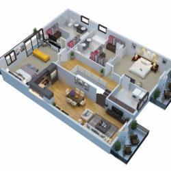 3D Floor Plan Rendering Sample