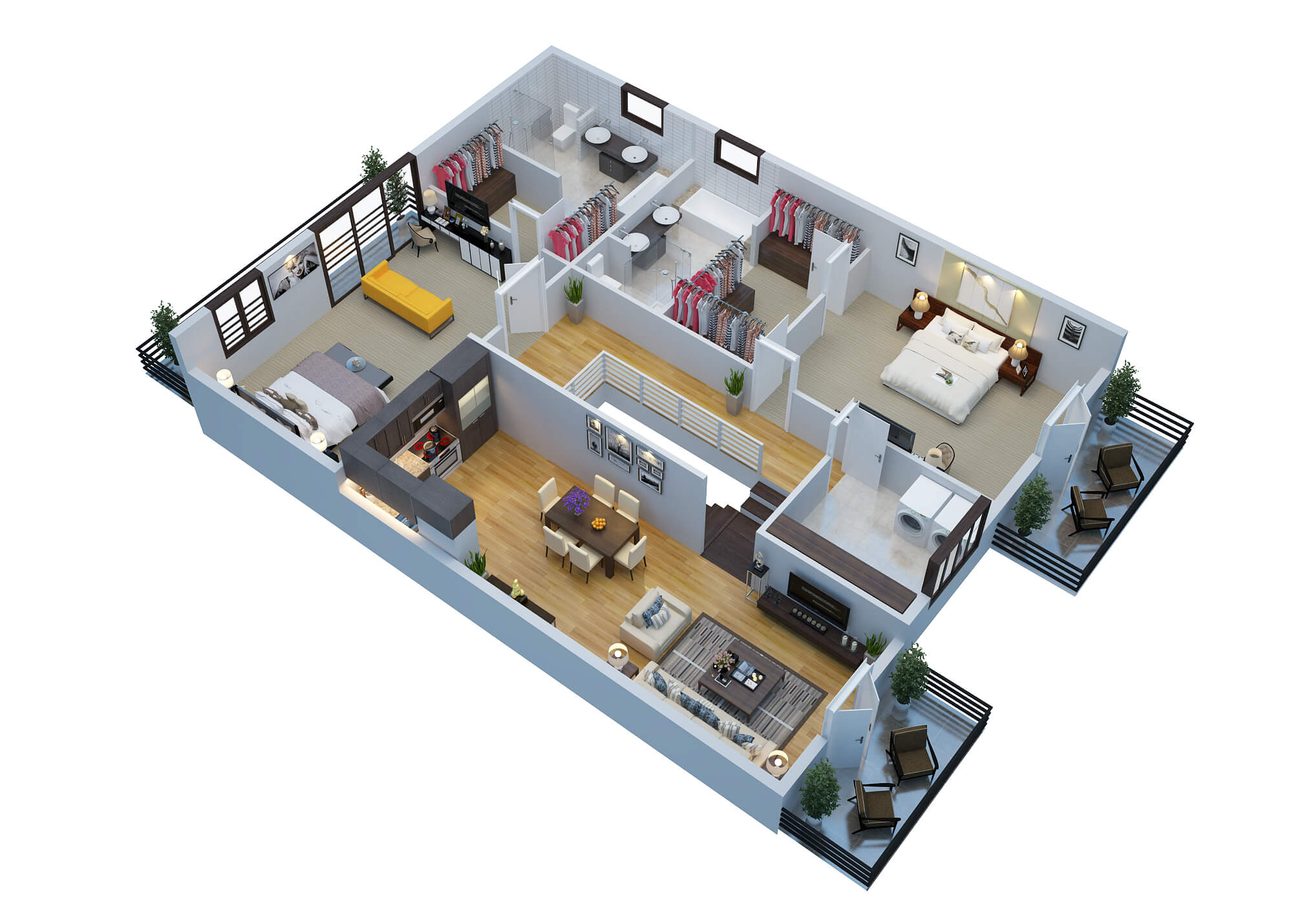 3D Floor Plan Rendering Sample