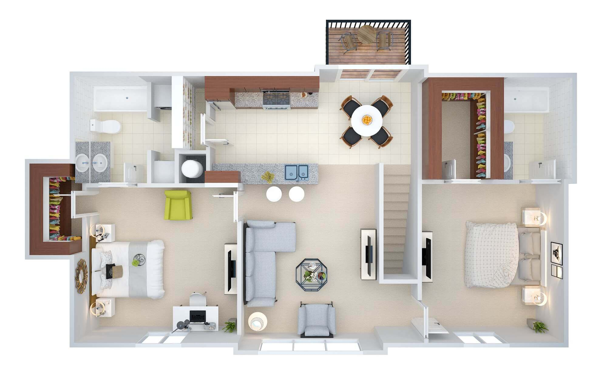 How listings with floor plans attract more residents for 2d room design