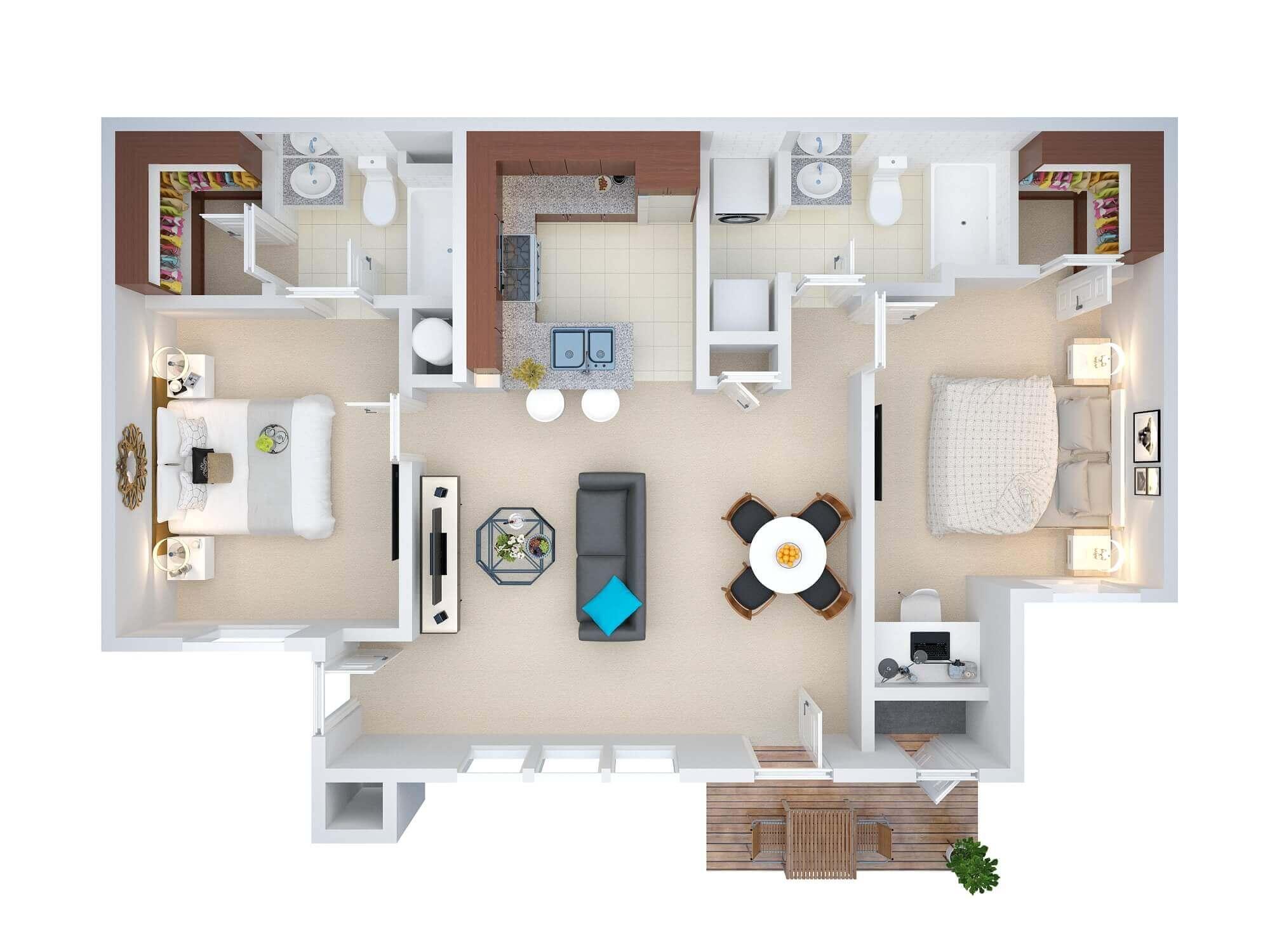 Real Estate 3D Floor Plans – Design / Rendering – Samples / Examples ...