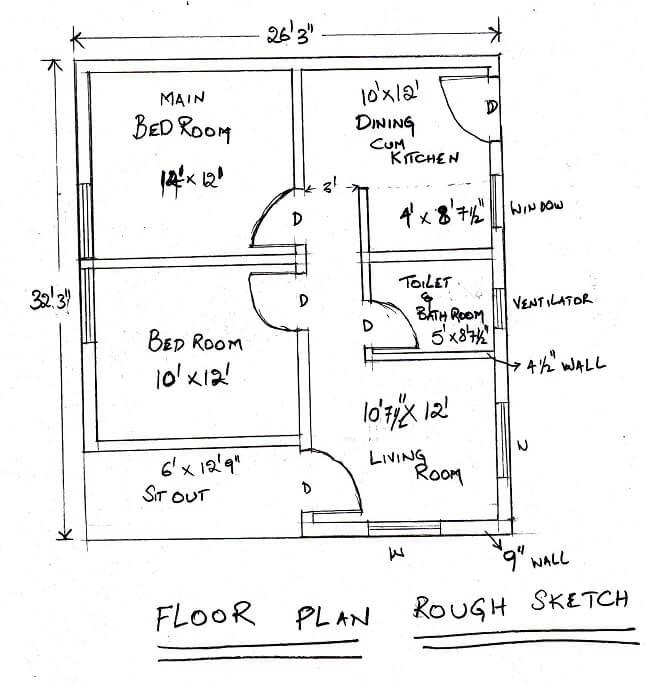 Floor Plan Sketch Sample