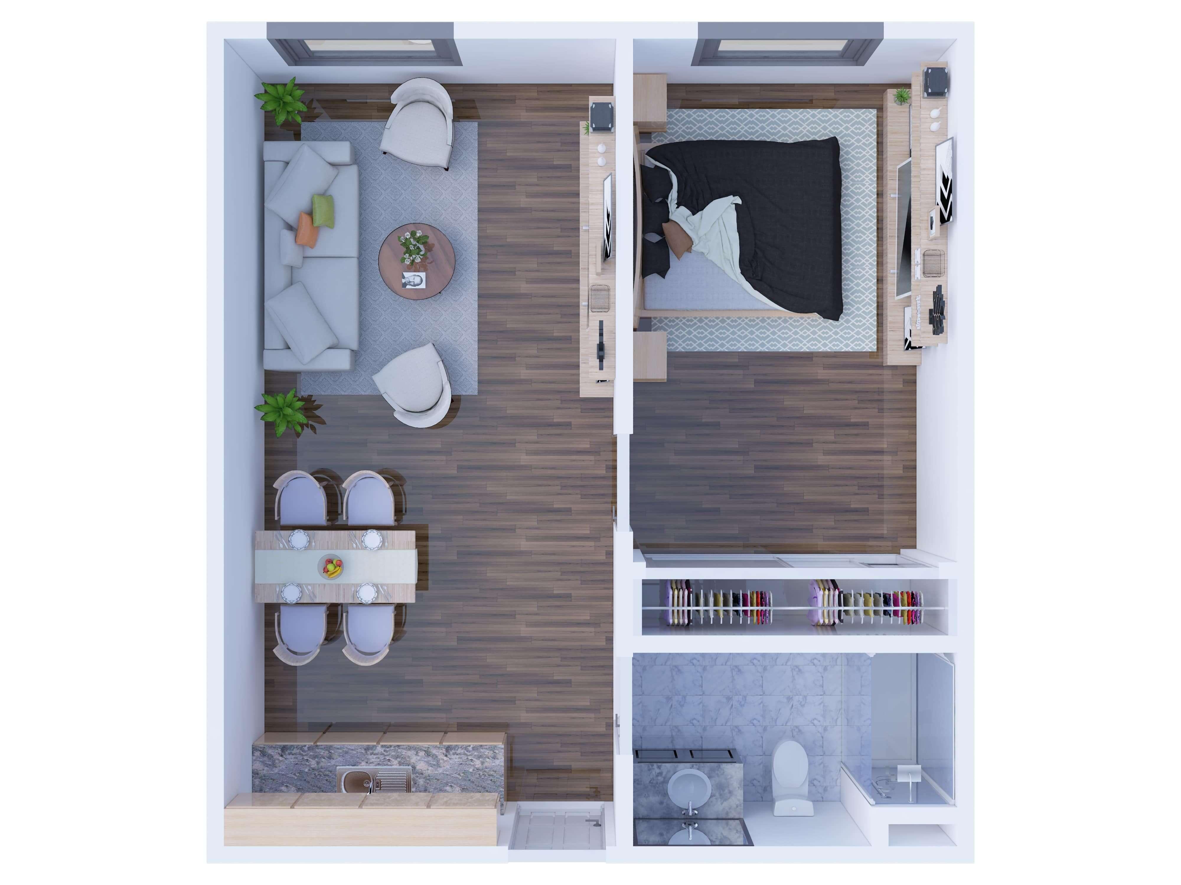 3D Floor Plan Sample - Std Quality