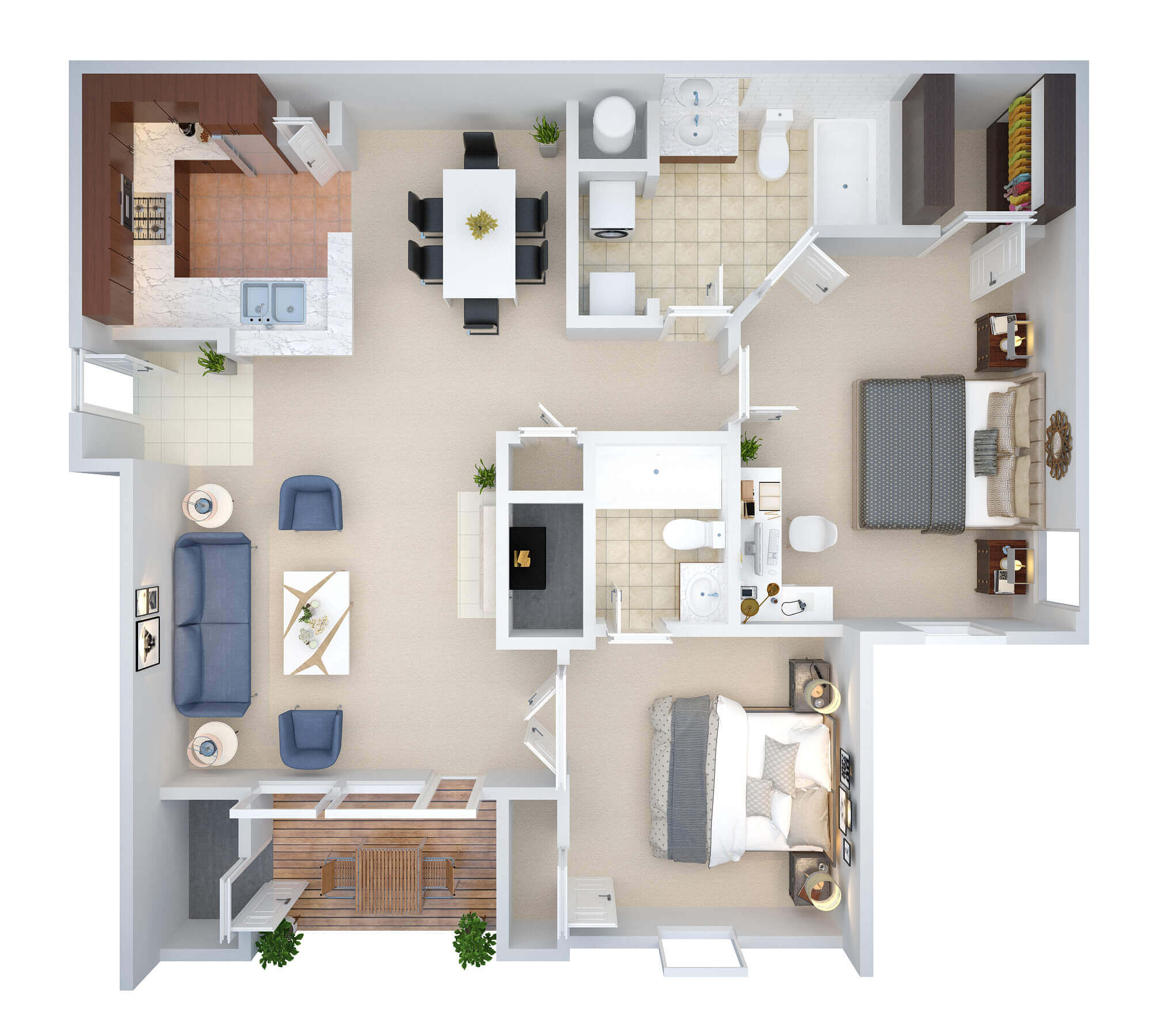 3D Floor Plan Design Sample